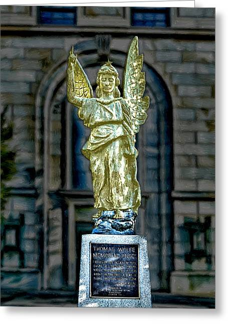 Carolina Greeting Cards - Thomas Wolfe Memorial Angel Greeting Card by John Haldane