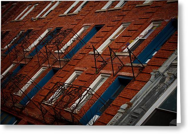 Brick Streets Greeting Cards - Thomas WV Greeting Card by Shane Holsclaw