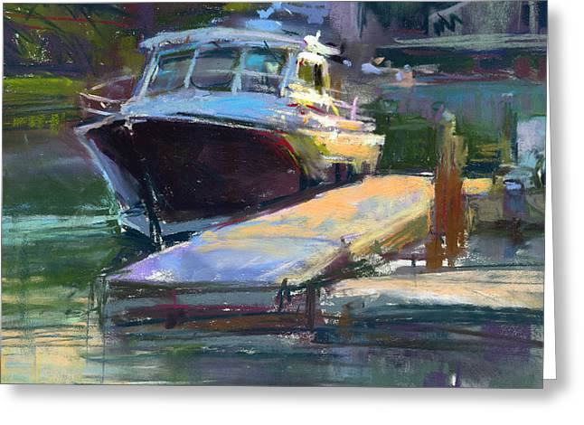Maine Landscape Pastels Greeting Cards - Thomaston Eve Greeting Card by Greg Barnes
