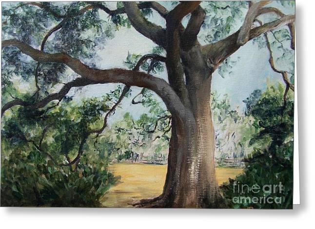 Thomasville Greeting Cards - Thomasville Oak Greeting Card by Mary Lynne Powers