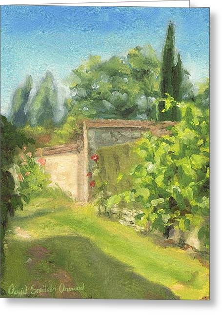 Paysage A L Greeting Cards - Thomery Greeting Card by David Ormond