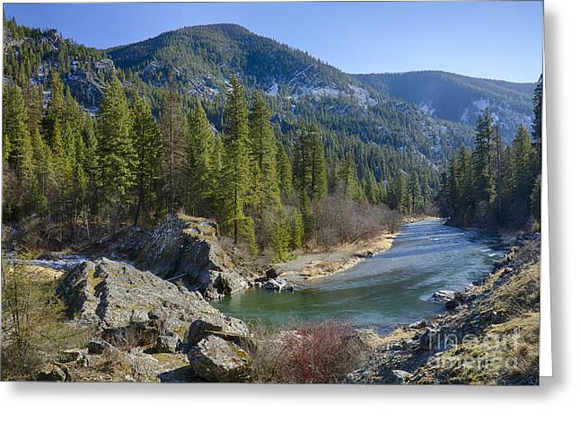 Big Sky Country Greeting Cards - Thompson River Greeting Card by Idaho Scenic Images Linda Lantzy
