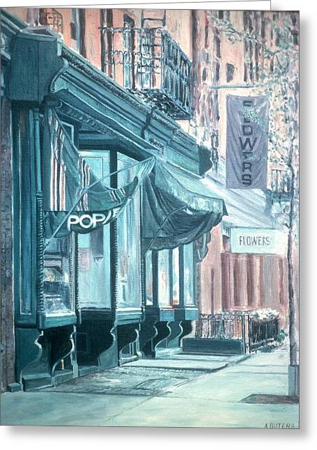 Shopfronts Greeting Cards - Thompson Street Greeting Card by Anthony Butera