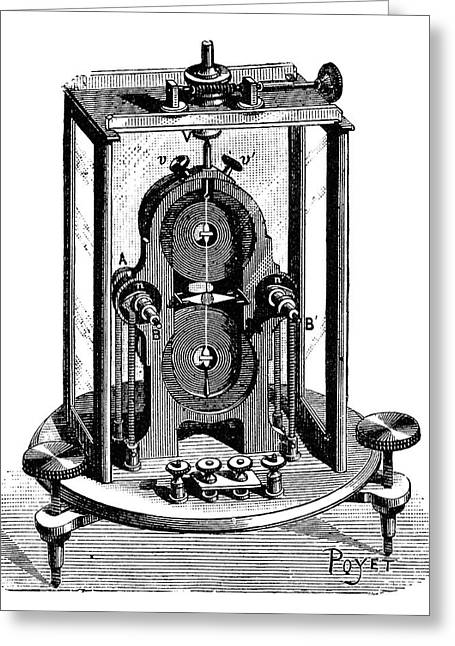 Thomson Galvanometer Greeting Card by Science Photo Library