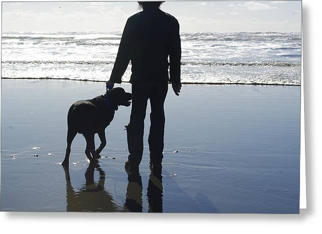 Keith Nichols Greeting Cards - Thor at the beach Greeting Card by Keith Nichols
