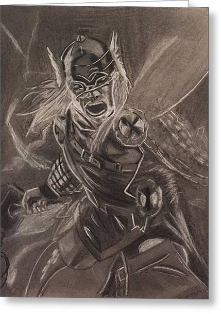 Thor Drawings Greeting Cards - Thor Greeting Card by Donetta Jamieson