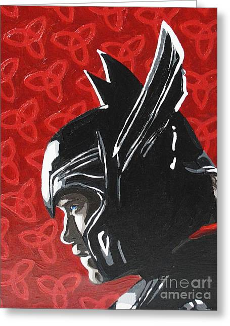Thor Paintings Greeting Cards - Thor Greeting Card by Ellen Nicole Allen