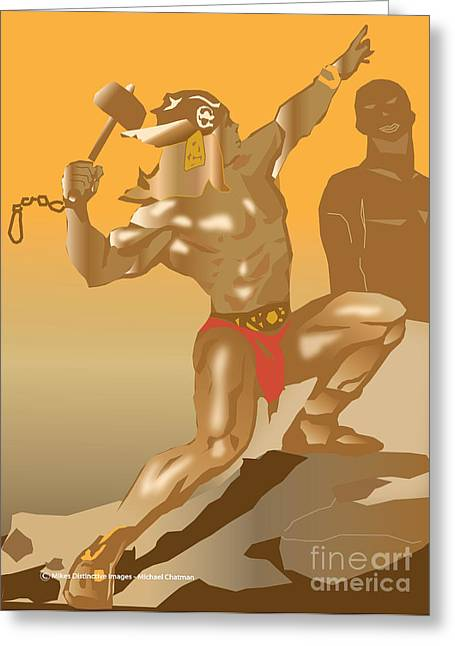 Thor Greeting Cards - Thor Greeting Card by Michael Chatman