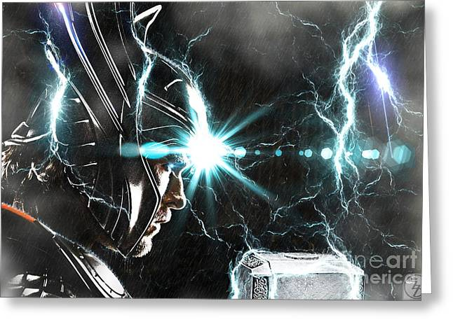 Thor Greeting Cards - Thor Odinson Greeting Card by The DigArtisT