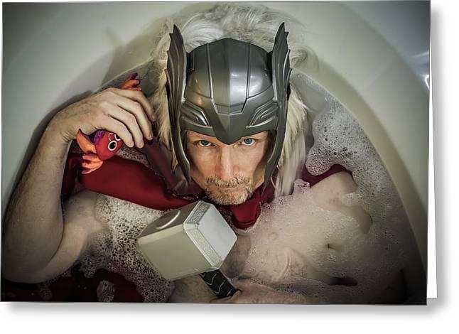 Thor Greeting Cards - Thor Son of Bathsgard Greeting Card by Randy Turnbow
