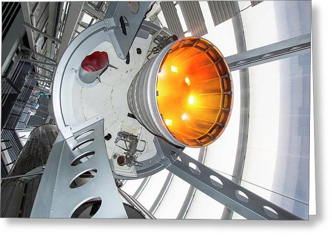 Thor Space Rocket Greeting Card by Ashley Cooper