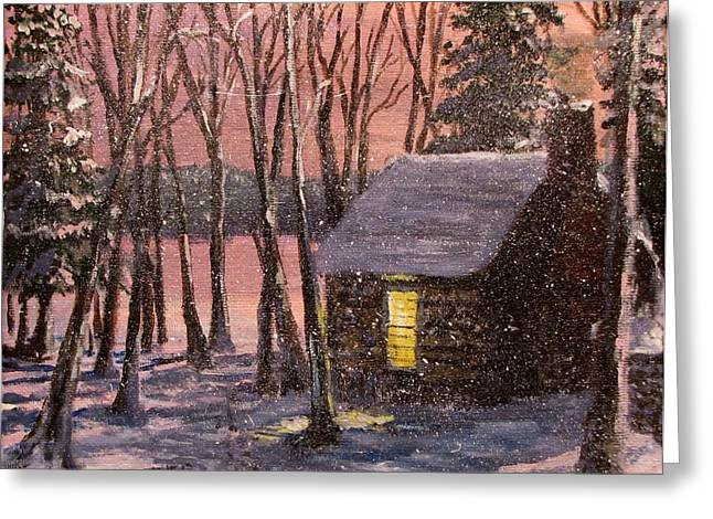 Concord Greeting Cards - Thoreaus Cabin Greeting Card by Jack Skinner