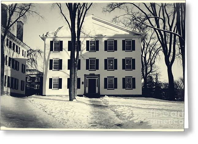 Ivy League Greeting Cards - Thornton Hall Dartmouth College Greeting Card by Adrian N Bouchard