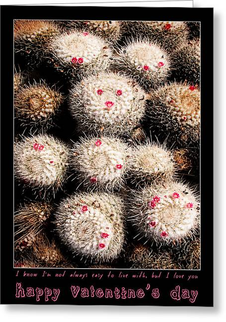 Saint Hope Greeting Cards - Thorny Valentine Greeting Card by Weston Westmoreland