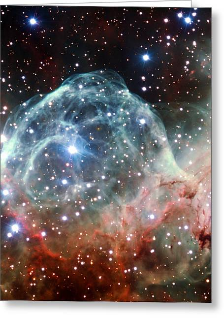 Thor Greeting Cards - Thors Helmet Nebula Greeting Card by Astronomy and Nature Gifts