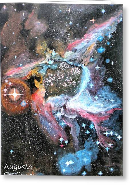 Thor Paintings Greeting Cards - Thors Helmet Nebula Greeting Card by Augusta Stylianou