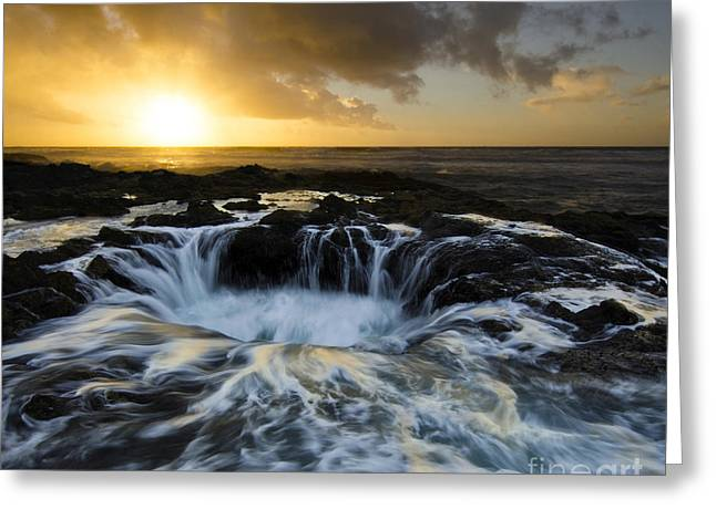 Into The Depths Greeting Card by Bob Christopher