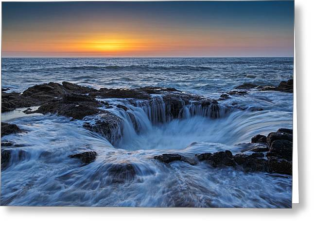 Afterglow Greeting Cards - Thors Well II Greeting Card by Rick Berk