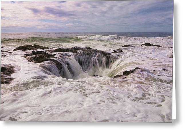 Thor Greeting Cards - Thors Well Oregon Coast Greeting Card by Steve McKinzie