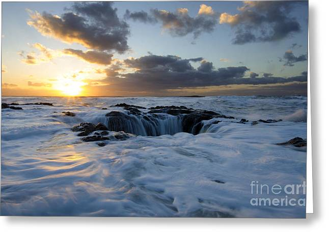 Flowing Wells Greeting Cards - Thors Well Oregon Truly A Place Of Magic 3 Greeting Card by Bob Christopher