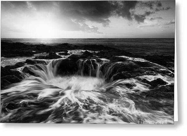 Thor Greeting Cards - Thors Well Oregon Monochrome Greeting Card by Bob Christopher