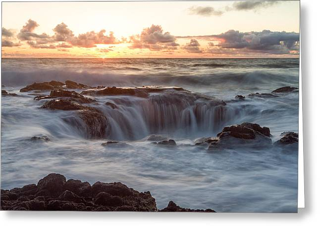Thor's Well Greeting Card by Patricia Davidson