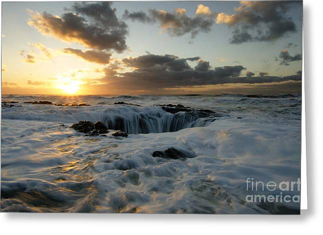 Flowing Wells Greeting Cards - Thors Well Truly A Place Of Magic 4 Greeting Card by Bob Christopher