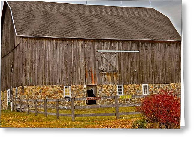 Outbuildings Greeting Cards - Those Days of Old Greeting Card by Randy Rosenberger