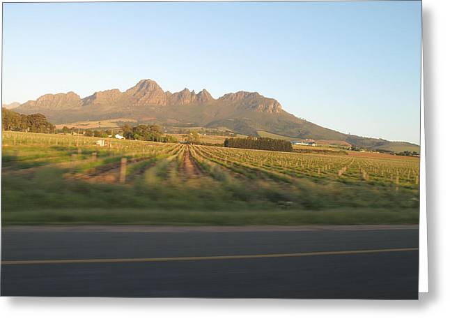 Stellenbosch Greeting Cards - Those Mountains Know The Truth Greeting Card by Frank Chipasula