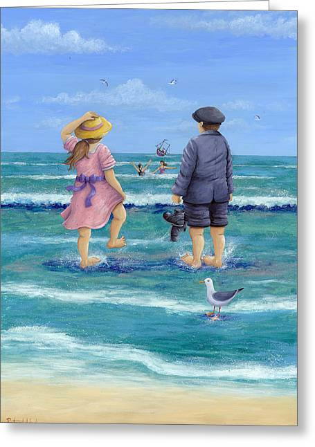 Bathing Suit Greeting Cards - Those Were The Days Greeting Card by Peter Adderley