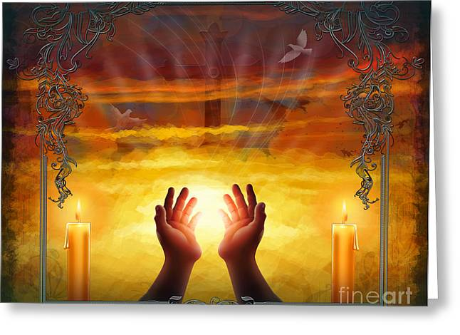 Morn Greeting Cards - Those Who Have Departed - Religious Version Greeting Card by Bedros Awak