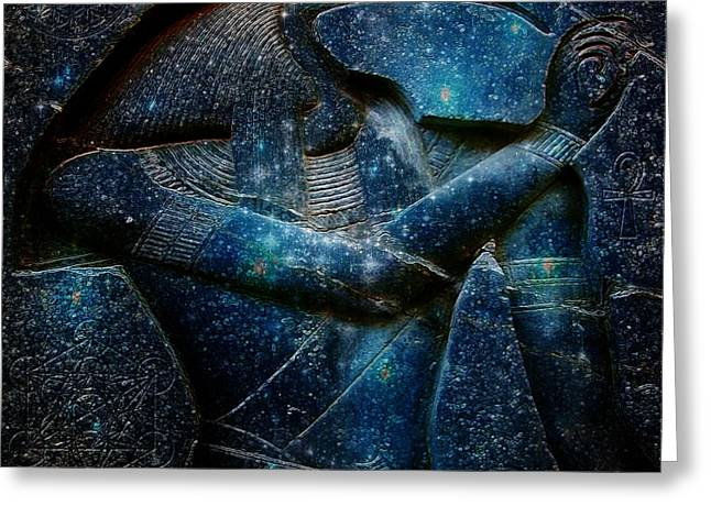 Recently Sold -  - Tablets Greeting Cards - Thoth Greeting Card by Mynzah Osiris