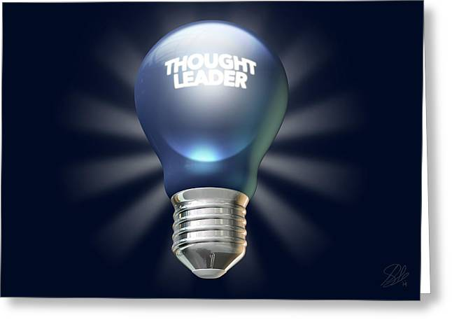 Electrical Digital Art Greeting Cards - Thought Leader Greeting Card by Allan Swart