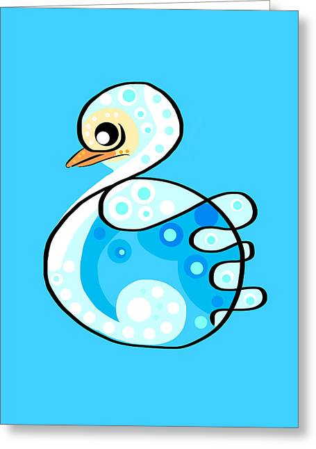 Ducklings Digital Greeting Cards - Thoughts and colors series duckling Greeting Card by Veronica Minozzi
