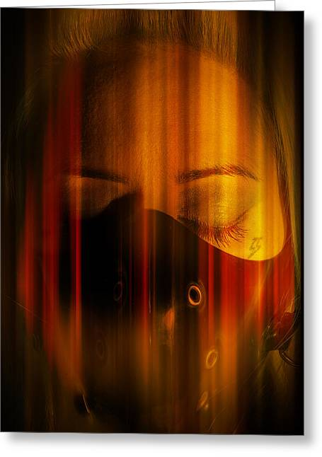 Abstract Hair Images Greeting Cards - Thoughts of fire Greeting Card by Nathan Wright