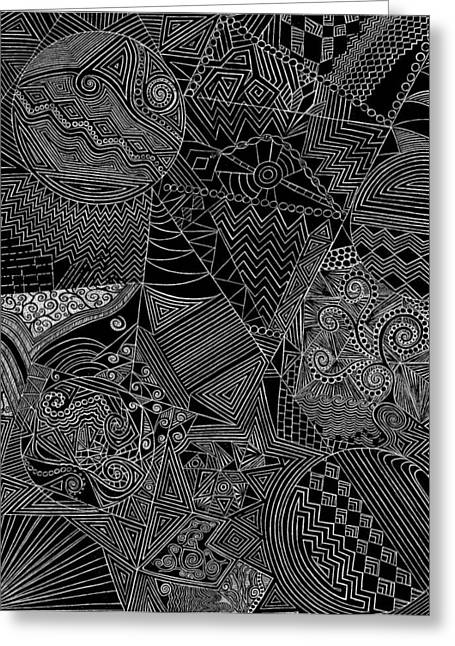 Music Time Drawings Greeting Cards - Thoughts on paper Greeting Card by Nikki Litman