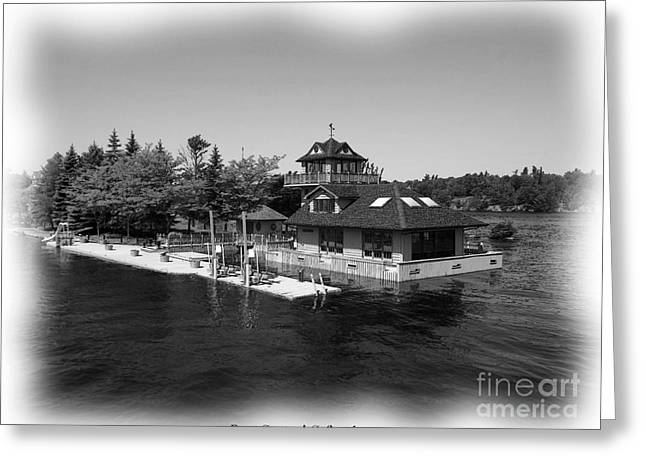 Santuci Greeting Cards - Thousand Islands in Black and White Greeting Card by Rose Santuci-Sofranko