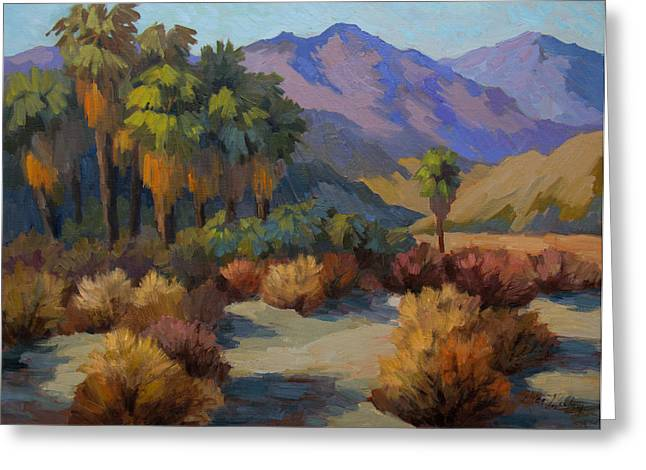 Impressionist Greeting Cards - Thousand Palms Greeting Card by Diane McClary