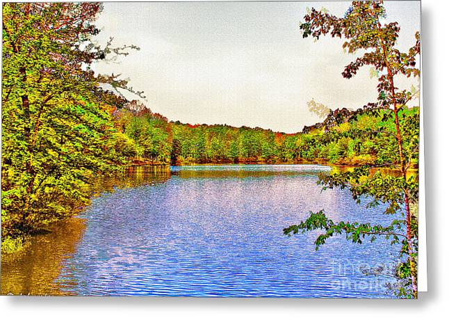 Natchez Trace Parkway Digital Greeting Cards - Thousand Trails Preserve Natchez Lake  Greeting Card by  Bob and Nadine Johnston