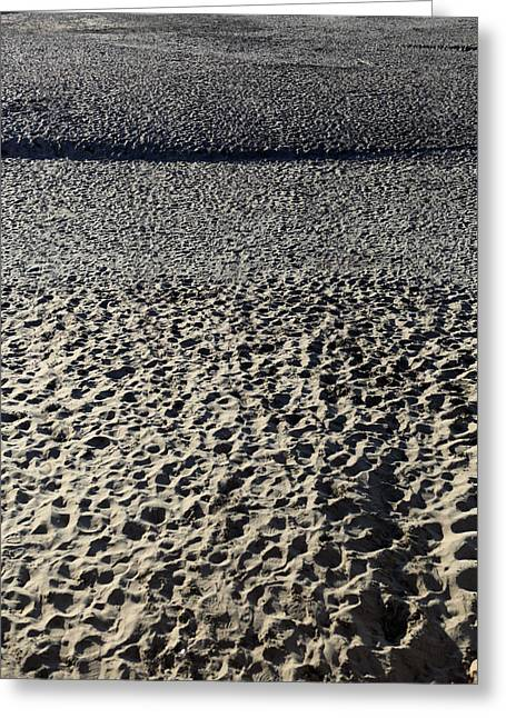 Footprints In The Sand Greeting Cards - Thousands of Footprints in the Sand Greeting Card by Hans Mauli