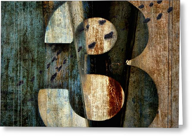 Beige Abstract Greeting Cards - Three Along the Way Greeting Card by Carol Leigh