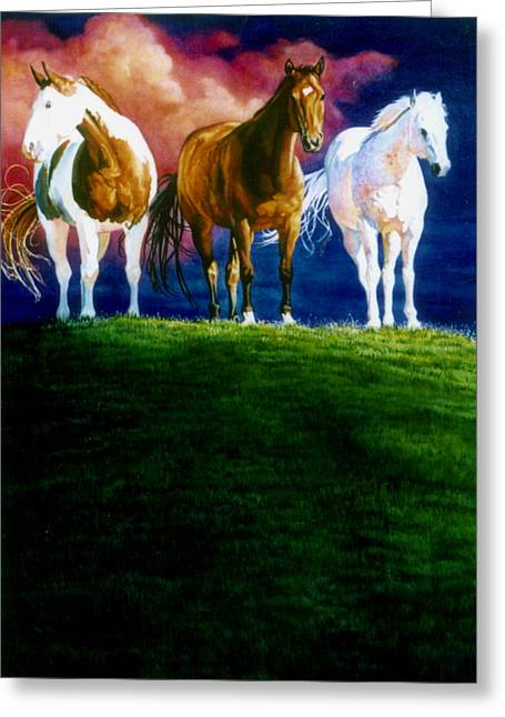 Three Amigos Greeting Card by Hanne Lore Koehler