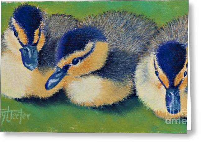 Friend Pastels Greeting Cards - Three Amigos Greeting Card by Tracy L Teeter