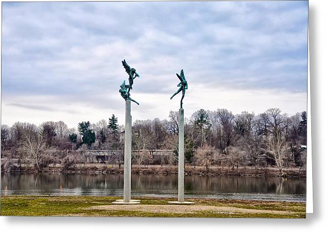 Kelly Drive Digital Greeting Cards - Three Angels in Fairmount Park Greeting Card by Bill Cannon