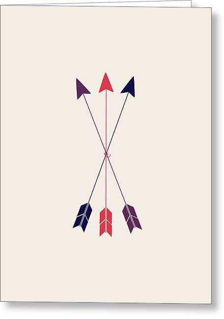 Three Arrows  Greeting Card by Sara Habecker