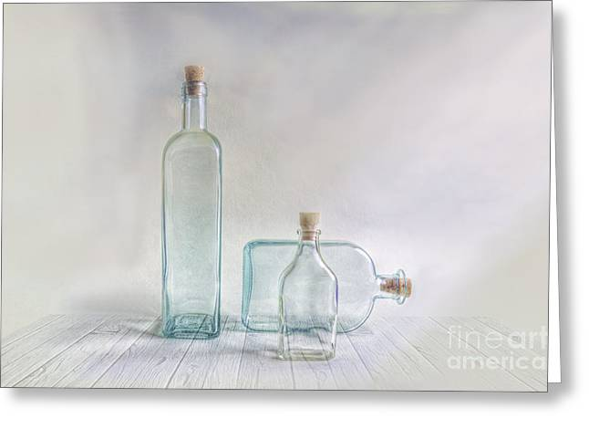 Three Bottles Greeting Card by Veikko Suikkanen