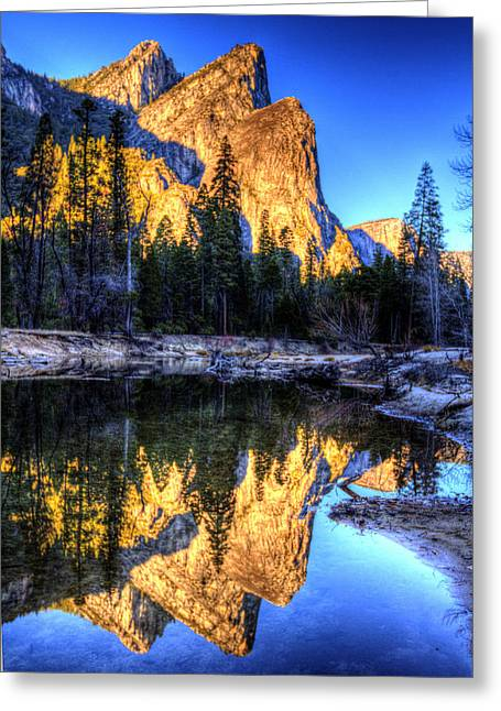 Mountain Valley Greeting Cards - Three Brothers. Greeting Card by Bill Gallagher