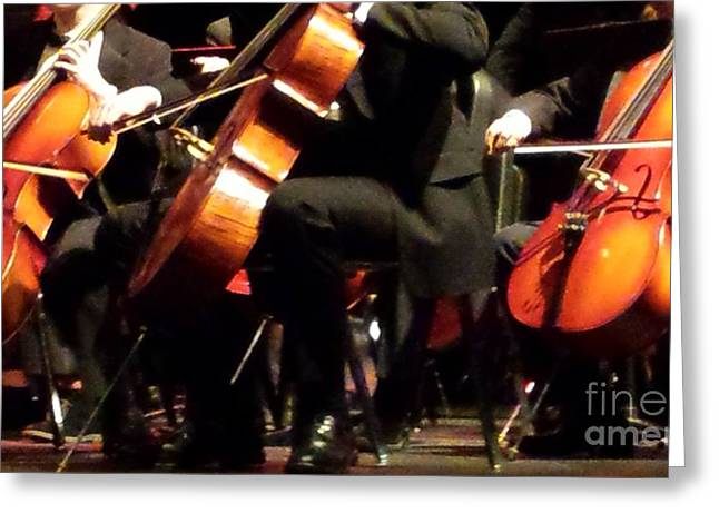 Hilliard Greeting Cards - Three Cellos Greeting Card by Paddy Shaffer