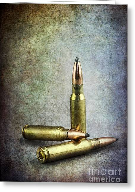Assault Weapons Greeting Cards - Three Chances  Greeting Card by Stephanie Frey
