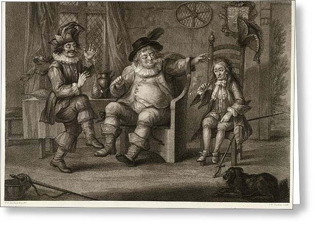 Three Characters Greeting Card by British Library